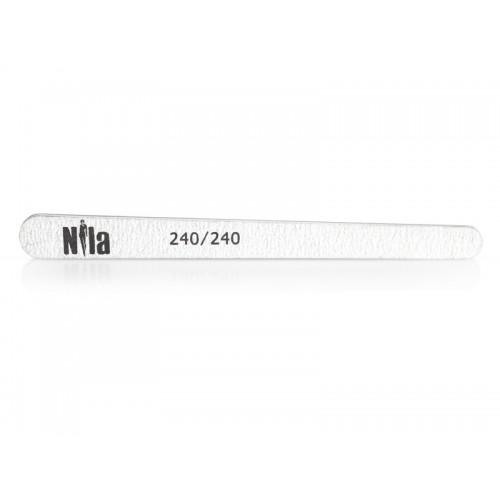 Nila Пилочка для ногтей маленькая Капля серая 240/240